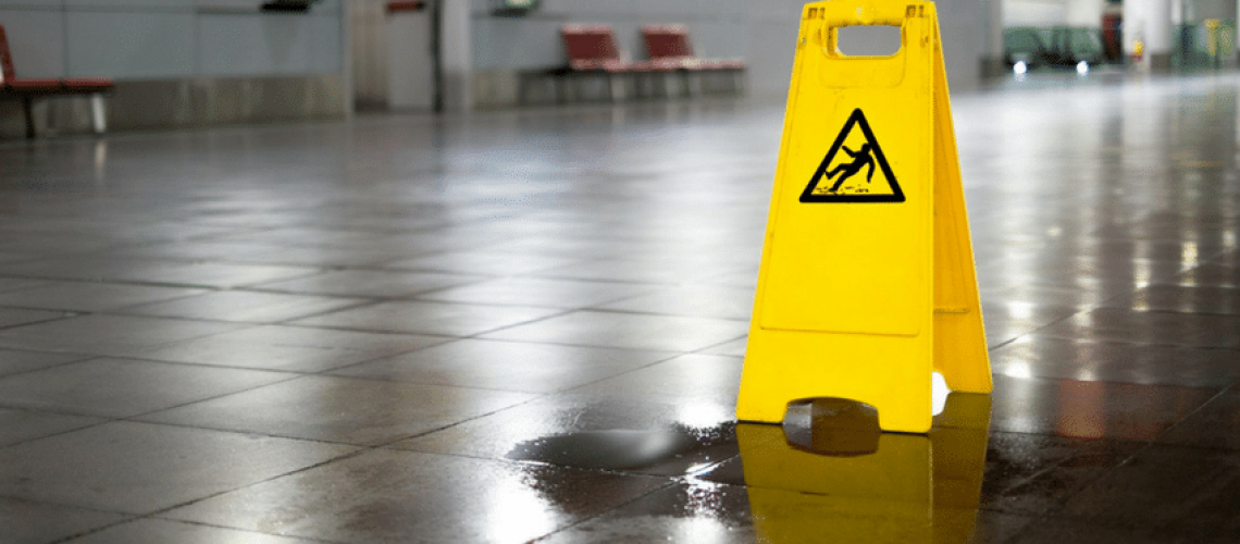 slip and fall accident from floor